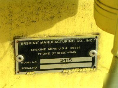 Erskine Snow Blower Skidsteer Attachment Model 2418