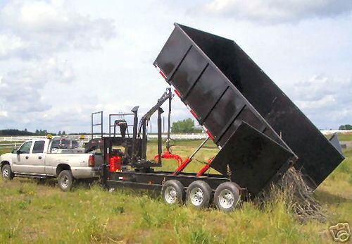 26 Yard Dump Trailer With Grapple Crane
