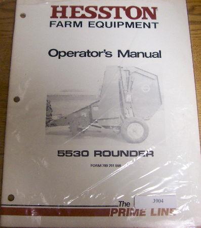 hesston operators manual