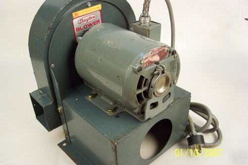 Sawdust Blower System : Dayton dust collector radial blade blower hp