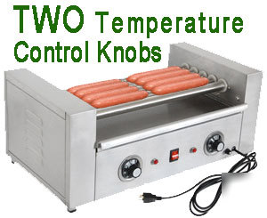 New 800w Commercial Hot Dog Roller Grill Cooker Machine