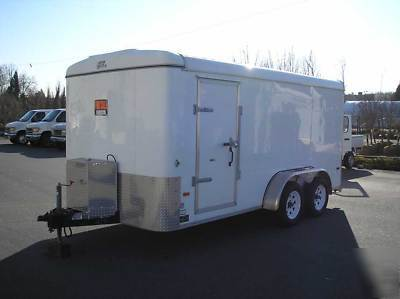 Clarke Super Dust Control System Enclosed Trailer