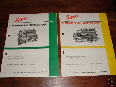 Simms minimec / majormec fuel inj pump workshop manuals