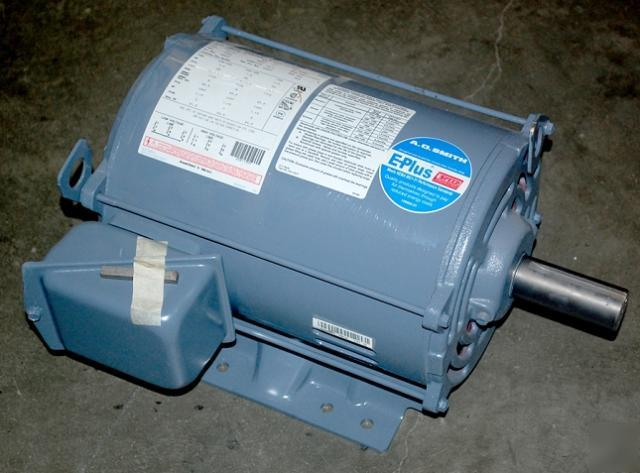 A o smith 7 5 hp 3 phase electric motor 7 850115m1 for 7 5 hp 3 phase motor