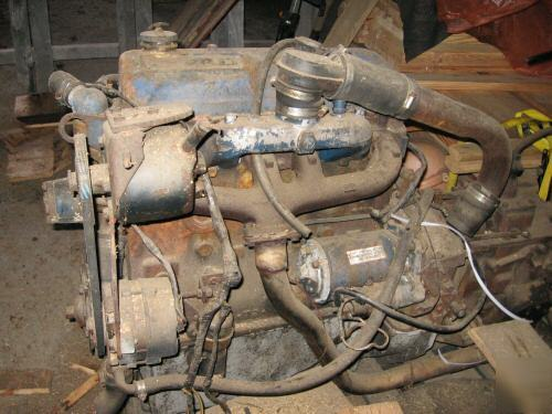 Ford 4 cyl industrial diesel engine , used , runs good