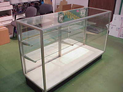 Full Vision Mirror Back Display Cases